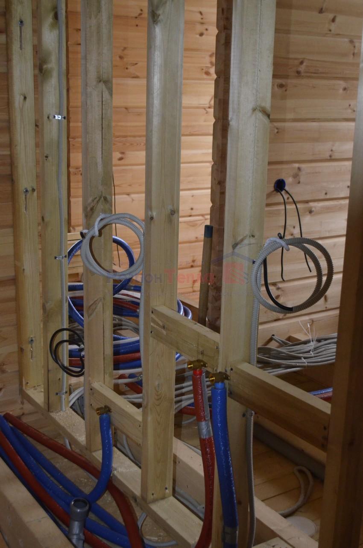 пример электропроводки в деревянном доме